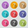 Question mark icon - Flat designs