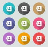 Contacts icon - Flat designs