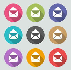 Envelope icon - Flat designs