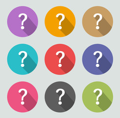 Question mark icon - Flat designs