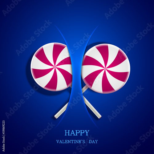 Vector circle lollipop on blue background. Eps10