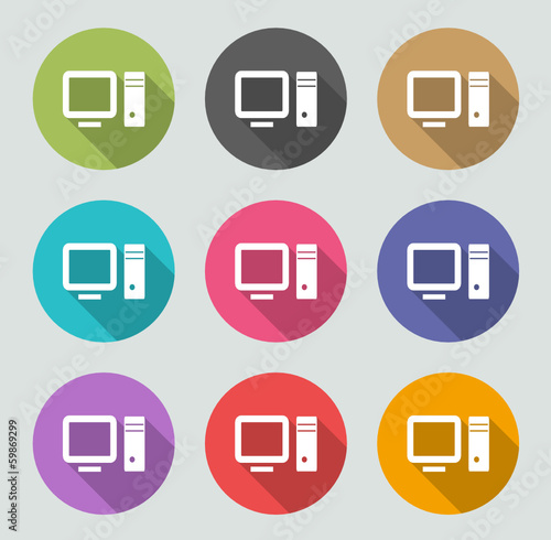 PC icon - Flat designs