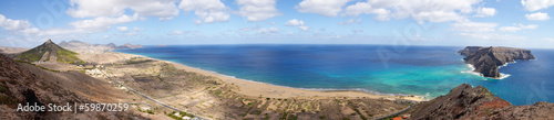 Porto Santo bay overview