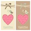 Cute set of valentine birthday wedding cards, invitations