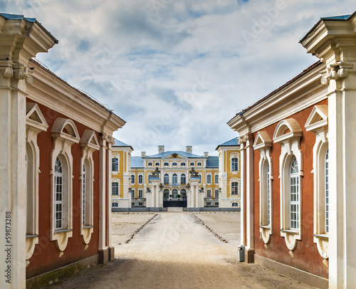 Entrance to the Rundale Palace, Latvia