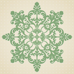 Vector baroque ornament in Victorian style. Element for design.