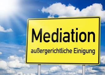 Schild mit Mediation
