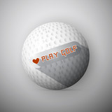 Golf Ball Illustration. Abstract Vector Background
