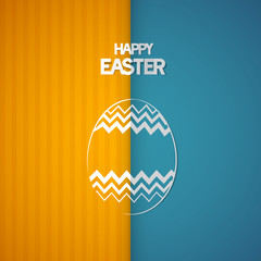 Easter Retro Background with Abstract egg Symbol