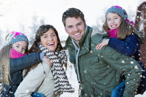 Winter familie
