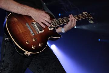 Gitarre Konzert Rampenlicht