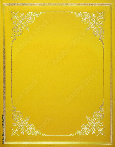 Yellow leather cover