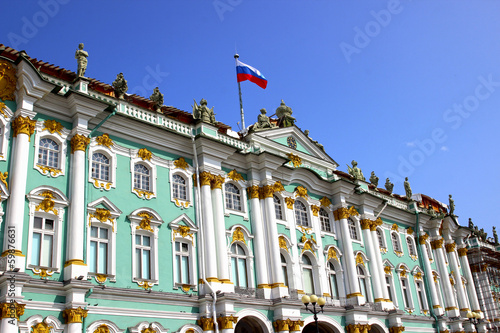Building of the Hermitage in St. Petersburg