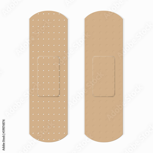 Medical bandage in different shape