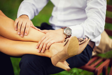 couple sitting on a natural