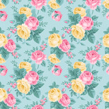 Fototapety Vector seamless vintage floral pattern.