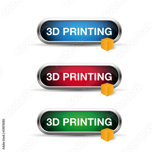 3d printing button or label set