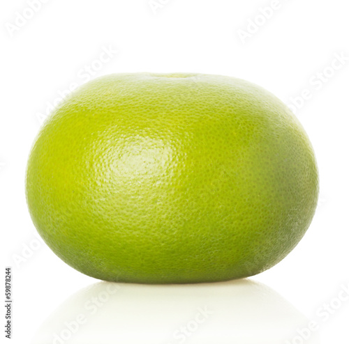 green grapefruit on white background