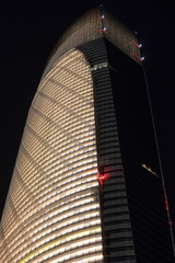 The Landmark Tower Closeup At Night