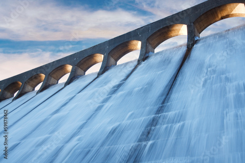Fotobehang Kanaal Clatteringshaws dam
