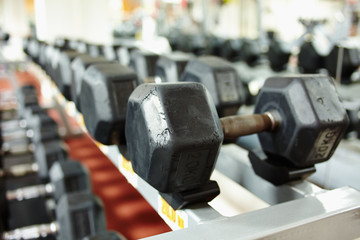 Dumbbells on the rack