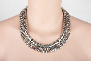 Beautiful silver statement necklace
