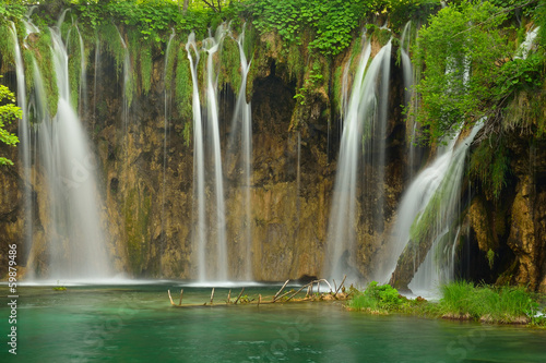 Waterfall at Plitvice Lakes