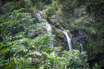 Waterfall in Maui Hawaii