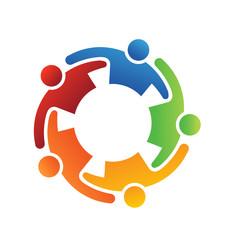Logo Vector Teamwork Embrace 5