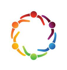 Logo Team Meeting 6 Design Icon Vector