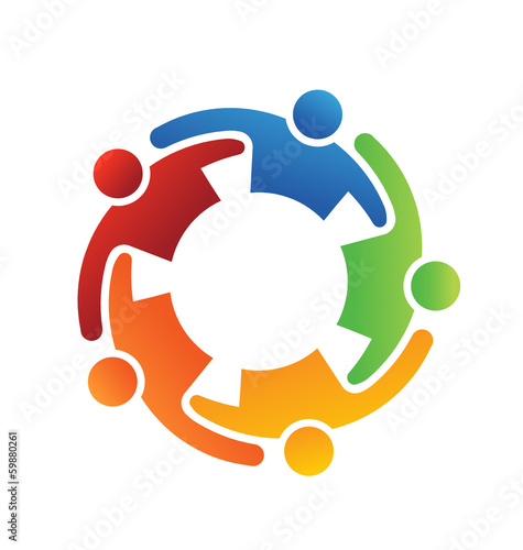 Logo Vector Teamwork Embrace 5