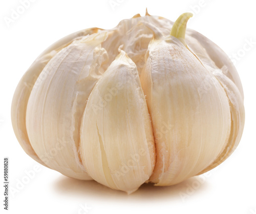 Garlic bulb isolated on white background