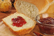 Fresh bread and jam