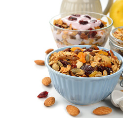 Granola with fruit and nuts