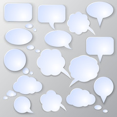 Vector speech bubble set