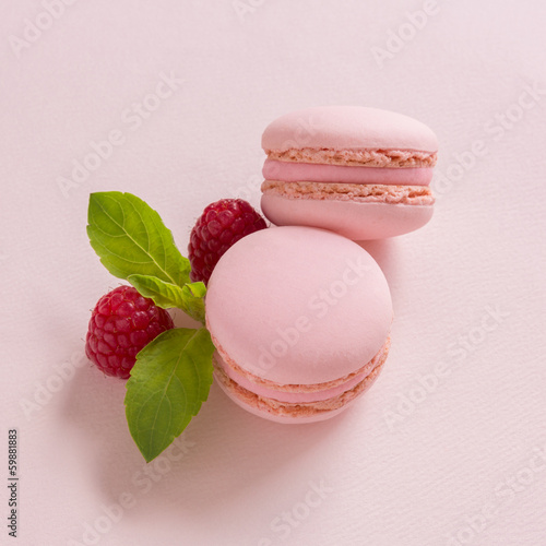 Papiers peints Macarons macaron rose