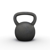 Kettlebell isolated. Illustration
