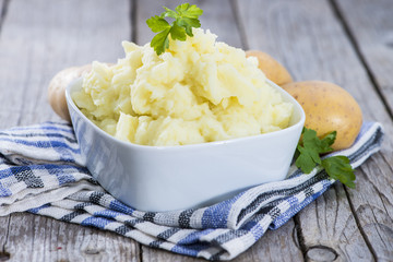Portion of Mashed Potatoes