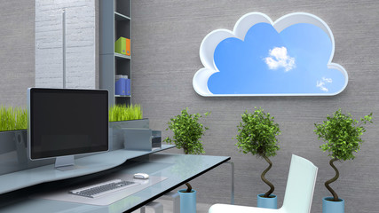cloud window