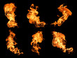 Flames on a black background. - 59884872