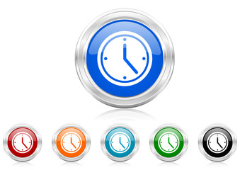 time icon vector set