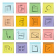 document icons set, note paper