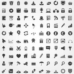 internet icon set, 100 web icons