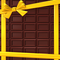 ChocolateWithYellowRibbonForBackground