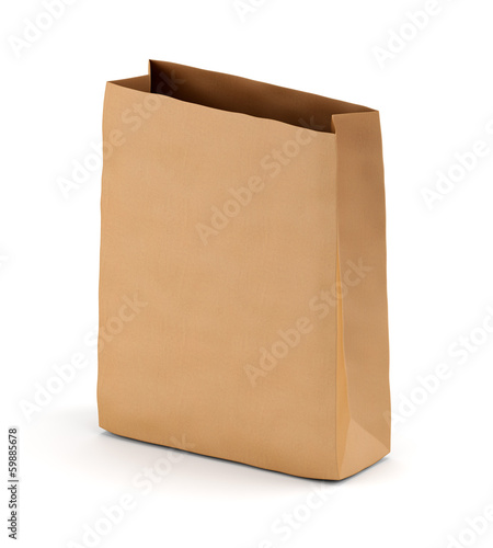 Brown kraft paper sack