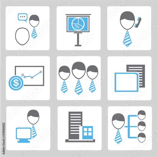 business icon, organization management icons