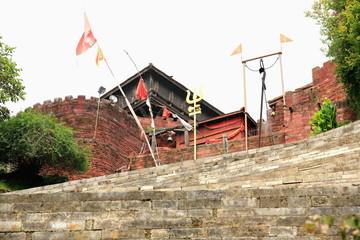Stone stairs in Gorkha Durbar-Nepal. 0426