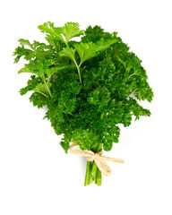tied fresh parsley