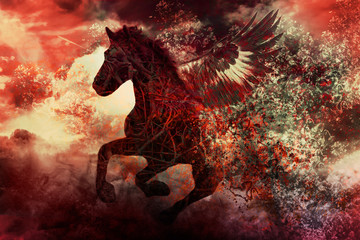 dark fantasy horse