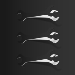 Wrench icon set